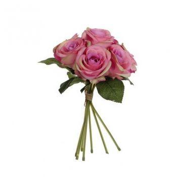 Kunstlill roosikimp 28cm roosa