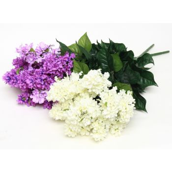 Kunstlill Sirelikimp lilla/valge