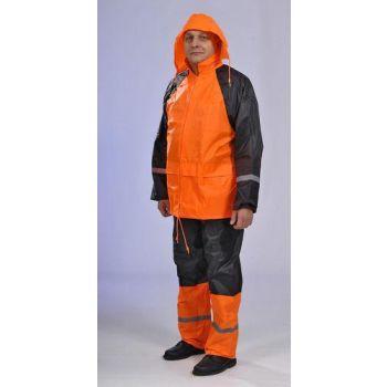 Vihmariiete kmpl M oranž-must