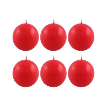 Küünal pall 6cm punane 6tk