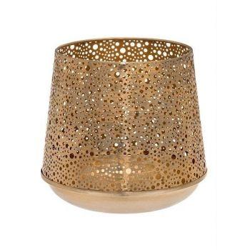 Küünlalatern Fanni kuldne 16cm 6410413233997