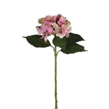 Kunstlill Hortensia roosa 51cm