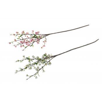 Kunstlill kirsioks 58cm valge või roosa