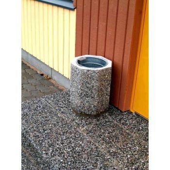 Betoonist prügikast D32/H42cm tume 4744653010684