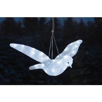 Jõuluvalgusti lind 50LED külm valge 20cm 6410413194274