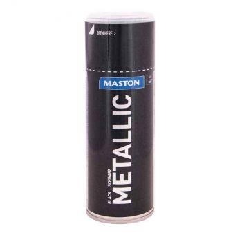 Aerosoolvärv Maston metallik must 400ml 6412492108159