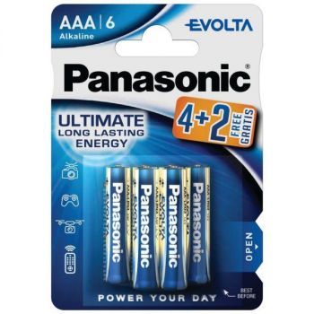 Panasonic Evolta AAA/LR03 patareid 4+2 tk 5410853044826