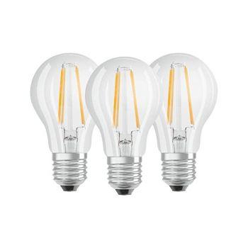 LED lamp 7W 827 E27 CLA60CL 3tk