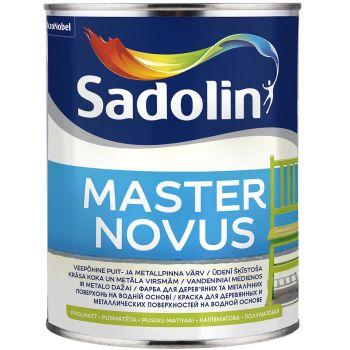 Puidu- ja metallivärv Sadolin Master Novus 15 1L, poolmatt, valge (BW)