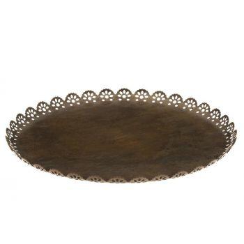 Küünlaalus Pits äärtega 25cm antiik 6410413222908