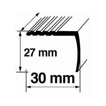 Nurgaliist A16 0,9m 27x30mm hõbe