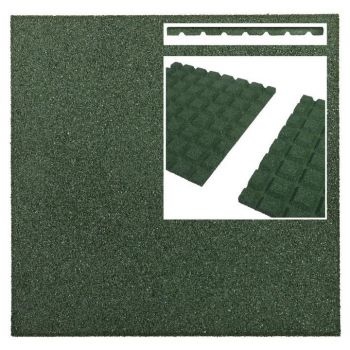 Kummimatt roheline 50x50x2,5cm 760802