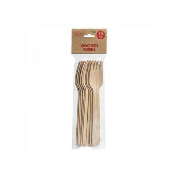 Kahvlid kasepuidust biolagunevad 10tk