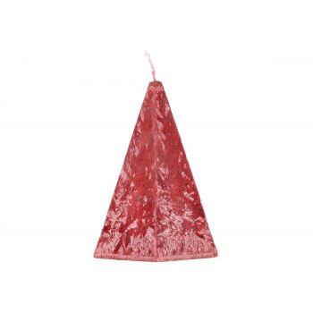 Küünal Püramiid 10x17cm punane