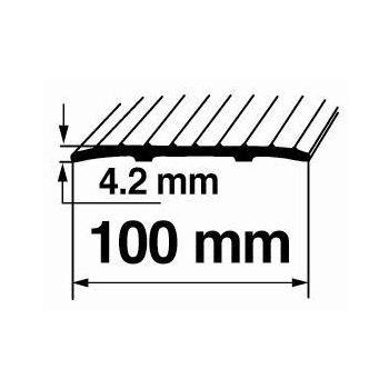 Vuugiliist A6 0,9m 100mm hõbe 4750492214176