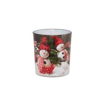 Küünal klaasis 7x8cm Rõõmsad Jõulud