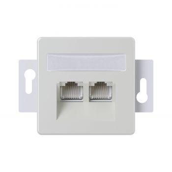 Arvutipesa Mikro 2xRJ45 valge