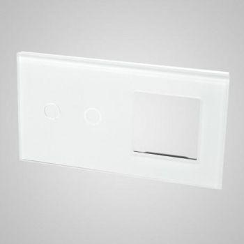 Lüliti Tenux klaaspaneel 2+raam valge 47434820