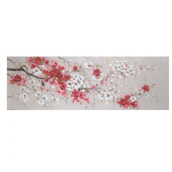 Pilt õlimaal 50x150cm punased kirsiõied