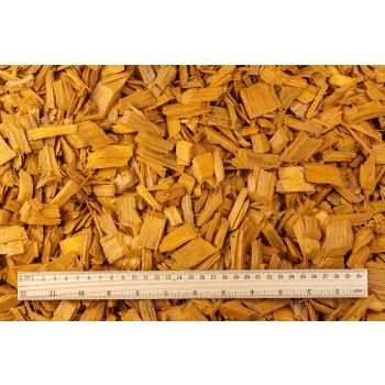 Hakkepuidu multš kollane 50L Wood chips yellow