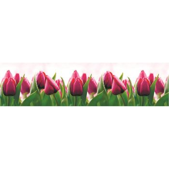 Köögitagaseina dekoratiivplaat 424 tulbid 4680439011424