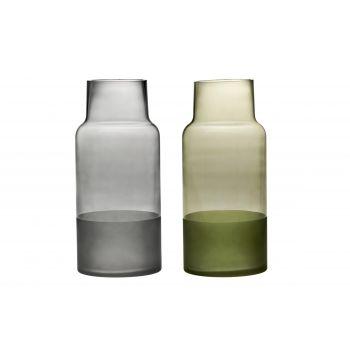 Lillevaas klaasist Dip 34cm roheline