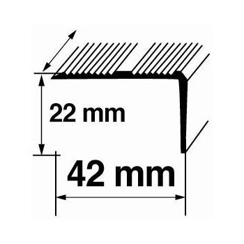 Nurgaliist A17 1,8m 22x42mm hõbe