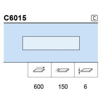 Klaasriiul 6mm 600x150 matt
