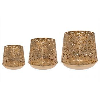 Küünlalatern Fanni kuldne 20cm 6410413234000