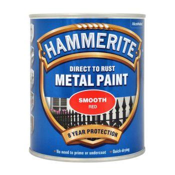 Metallivärv Hammerite Smooth, läikivsile pind, 750ml, punane