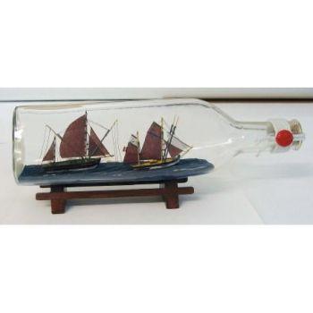 Dekoratiivne laev pudelis L29cm kolmurkne