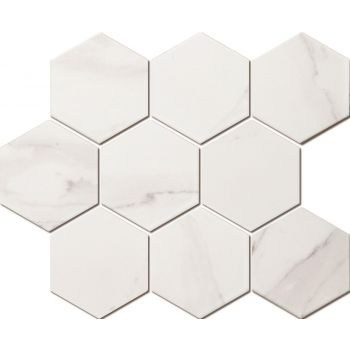 Mosaiik Marble hexagon carrara white