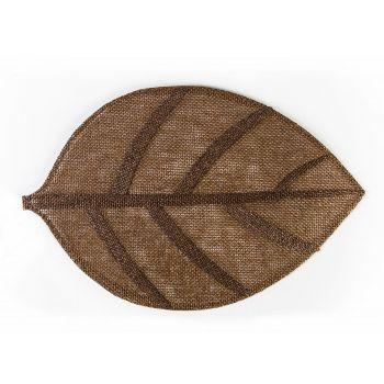 Lauamatt Leaf 45x30cm pruunikaspunane