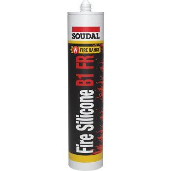 Fire Silicone Soudal B1 FR hall 300ml 147412 Silikoonid ja hermeetikud 5411183165878