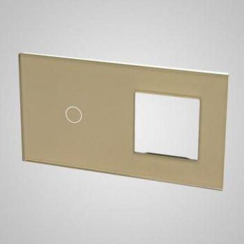Lüliti klaaspaneel Tenux 1+raam kuldne 47434738