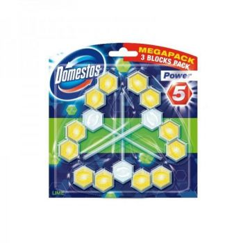 Domestos Power 5 Trio Lime 3x55g 8710908736490