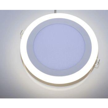 LED valgusti 12W+4W ümar valge süvistatav