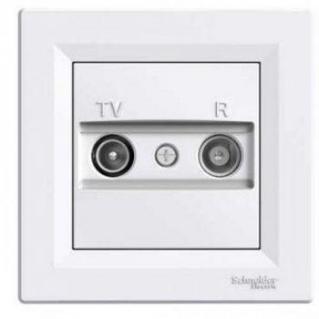 Asfora antenni pesa TV/R läbiv 4db valge