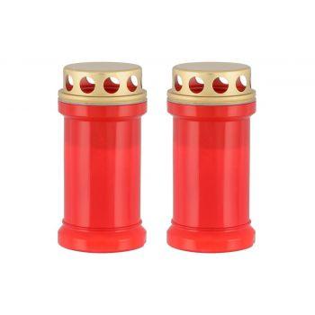 Hauaküünal kaanega 50h punane 2tk/pk