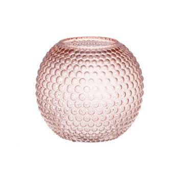 Lillevaas klaasist Ball 18cm roosa