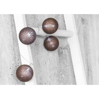Valguskett 10LED 6cm Mocca puuvillapallid 6410412792907