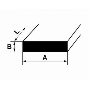 Alumiiniumist I-profiil B1 2m 20x3mm hõbe