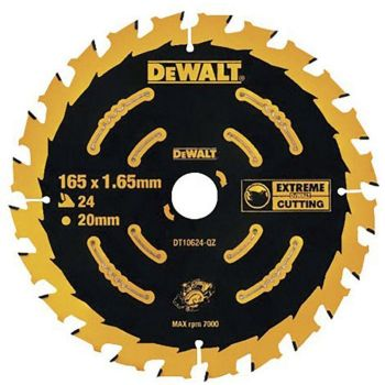 Saeketas DeWalt 165x20x1,65mm Z24H 5035048085844