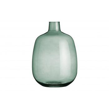 Lillevaas klaasist 33cm suitsuroheline