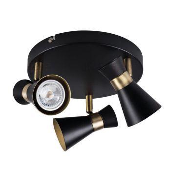 Kohtvalgusti Mileno 3x35W must/kuldne