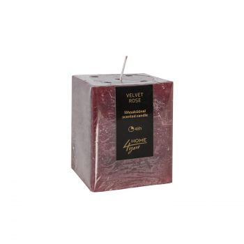 Küünal Velvet Rose 7,5x7,5x10cm punane