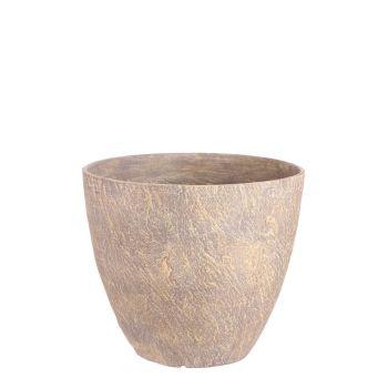 Lillepott Bravo ümmargune pruun kiltkivi K 32,5 xD 38cm 8718861870053