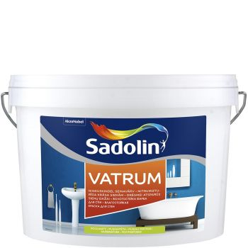Seinavärv Sadolin Vatrum 5L, poolmatt, valge (BW)