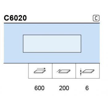 Klaasriiul 6mm 600x200 matt