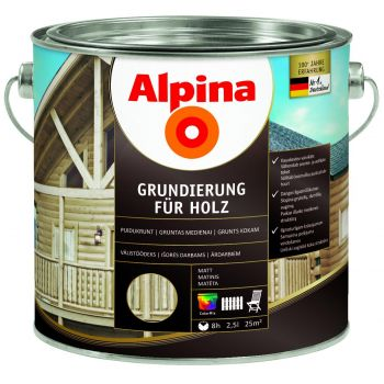 Puidukrunt Alpina GRUNDIERUNG FÜR HOLZ 10 l 4001244761210
